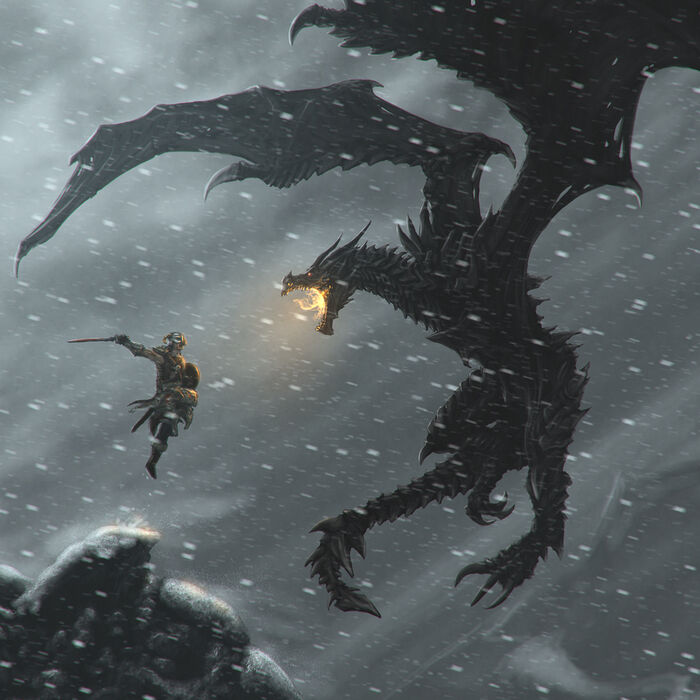 Skyrim Dragon Art