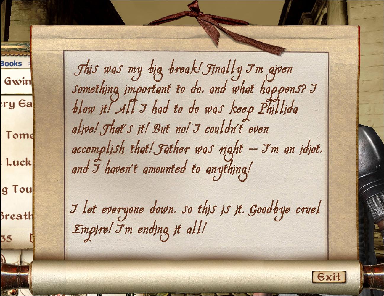Suicide Note  Elder Scrolls  Fandom Powered By Wikia