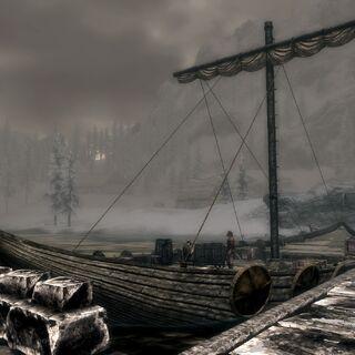 Zacumowany okręt