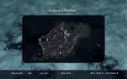 Mappa Accademia di Winterhold