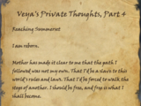 Veya's Private Thoughts, Part 4