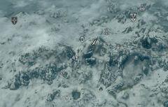 Вершина горы Антор карта