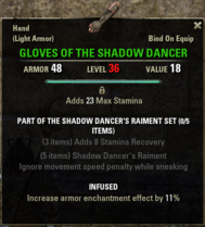 Shadow Dancers Raiment - Gloves 36