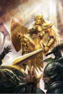 Golden Saint card art