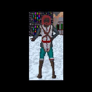 Redgard podczas zimy w The Elder Scrolls: Arena