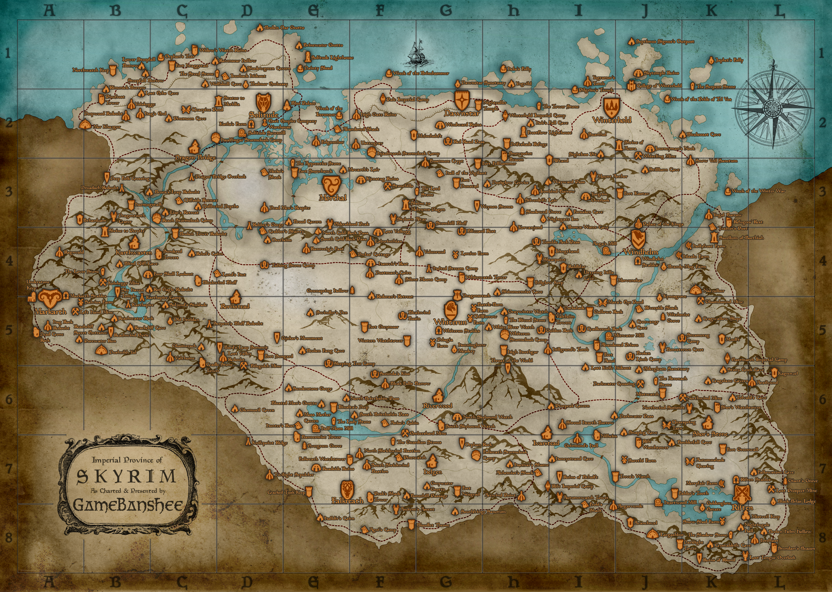 Map skyrimlocations elder scrolls fandom powered by wikia skyrimmap gumiabroncs Choice Image