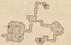 Ежевичная Поляна - Внутренние пещеры. План
