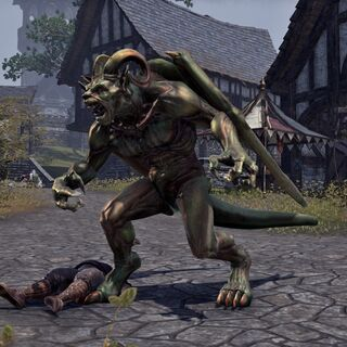 Gargulec z gry The Elder Scrolls II: Daggerfall