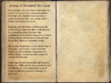 Journal of Bernamot the Great