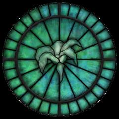 Witraż z Symbolem Dibelli z gry The Elder Scrolls IV: Oblivion