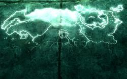 Mappa di Tamriel proiettata