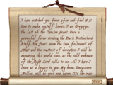 Bloodstained Note (Oblivion)