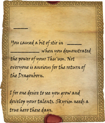 Letter From A Friend Skyrim Elder Scrolls