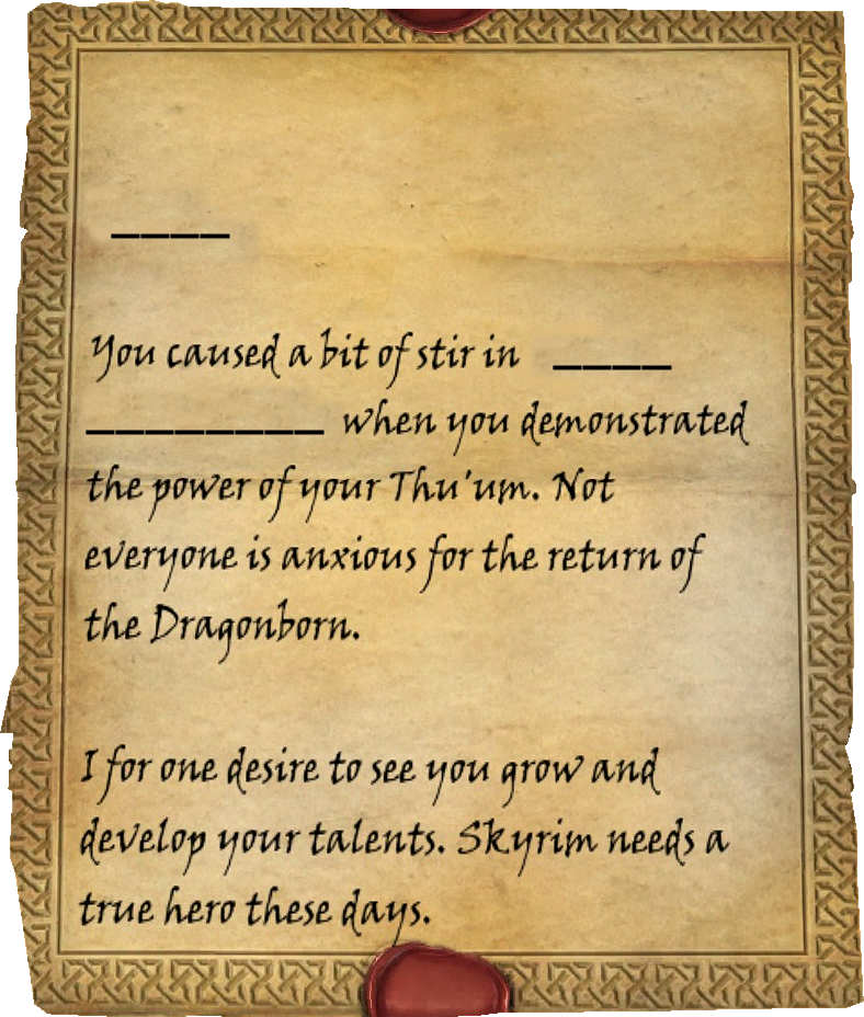 Letter from a friend elder scrolls fandom powered by wikia page 1 expocarfo Image collections