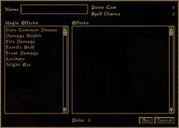 TES3 Morrowind - Spellmaking interface 1
