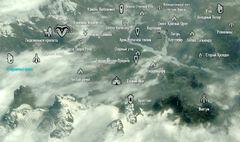Старушечья скала на карте