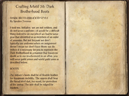 Crafting Motifs 36, Dark Brotherhood Boots