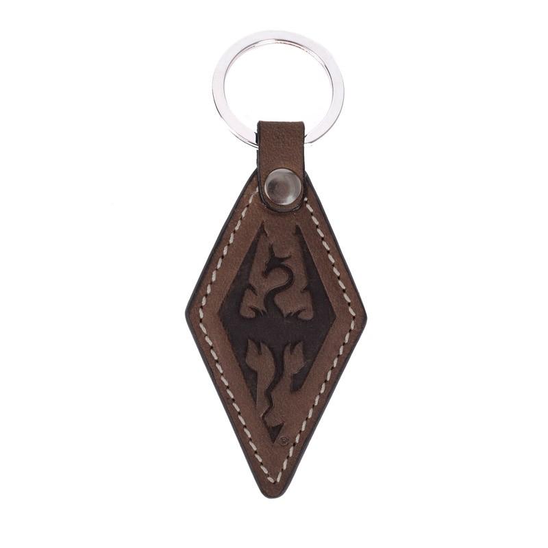 Imperial Dragon Symbol Leather Keychain Elder Scrolls Fandom