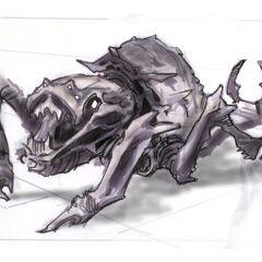 Wczesna grafika koncepcyjna Chaurusa