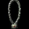 Серебряное ожерелье с самоцветами