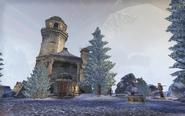 Enchanted Snow Globe Home Outside