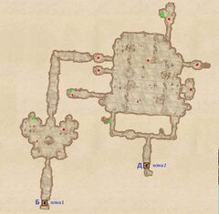 Неотмеченная пещера - Зал Чёрной королевы. План