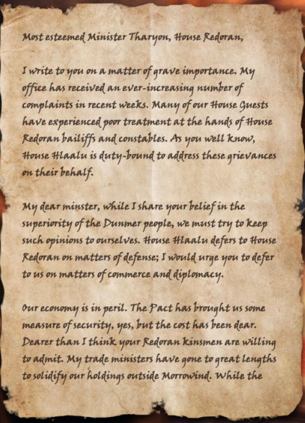 Hlaalu letter of complaint elder scrolls fandom powered by wikia page 1 spiritdancerdesigns Choice Image