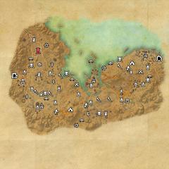 Стоунфоллз-Дорожное святилище форта Вирак-Карта