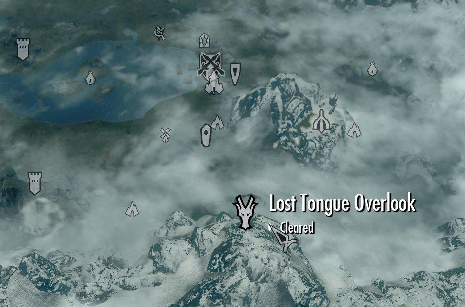 Lost Tongue Overlook   Elder Scrolls   Fandom on dragon dogma map, dragon reach map, dragon run map, dragon masks skyrim locations map, dragon mask locations on the map,