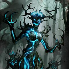 """Karta """"Szmaragdowy Pradawny"""" z gry The Elder Scrols: Legends"""