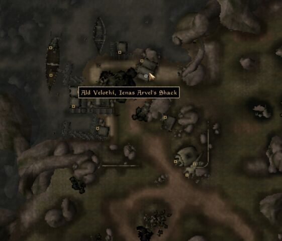 File:TES3 Morrowind - Ald Velothi - Ienas Arvel's Shack - location map.jpg