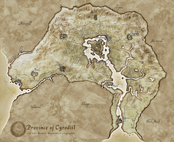 Cyrodiil Regions Map
