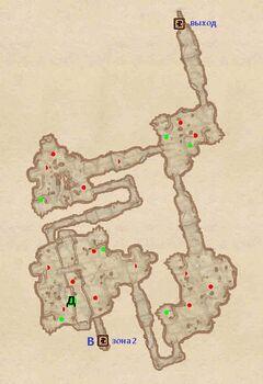 Пещера Песчаник. План