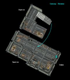 Солитьюд - Лесопилка - план внутри