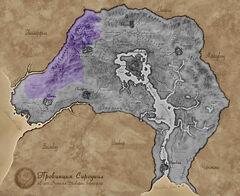 Карта Сиродила - Коловианское нагорье