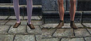 Оранжевые лёгкие туфли 1