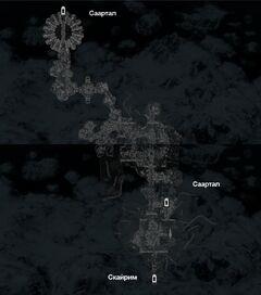 Саартал - Раскопки - план