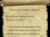 Factor Luluelle's Report