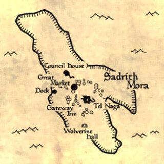 Mapa Sadrith Mora