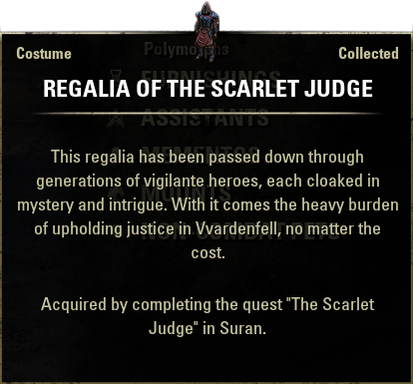 Regalia of the Scarlet Judge