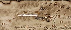 Пещера Замковый Камень - карта