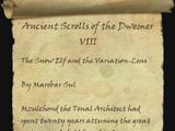 Ancient Scrolls of the Dwemer VIII