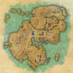 Строс М'Кай-Дорожное святилище Порт-Хандинга-Карта