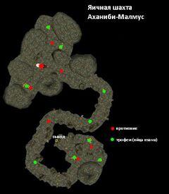 Яичная шахта Аханиби-Малмус. План