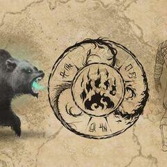 Concept art niedźwiedzia bojowego