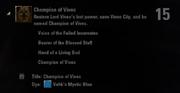 Champion of Vivec Achievement