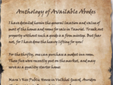 Anthology of Available Abodes