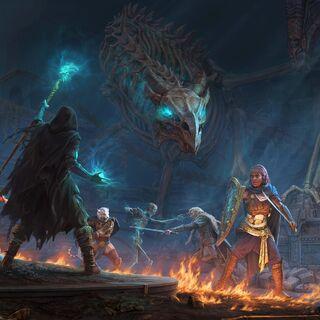 Obraz promujący <i>Dragon Bones</i> w <a href=