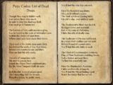 Psijic Codex: List of Dead Drops