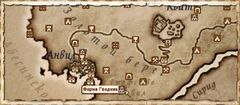 Ферма Гведена (карта)